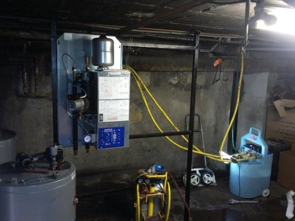 Installation de pompes à chaleur air eau Ajtech Mitsubishi