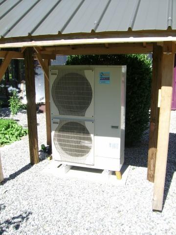 Fin de l'installation d'une pompe à chaleur air eau Ajtech Mitsubishi